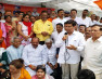 कांग्रेस ने 'लोकतंत्र बचाओ दिवस' के तहत दिया धरना