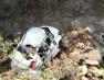 दिल्ली के यात्रियों की कार गिरी पुलिया से नीचे गिरी, तीन मरे