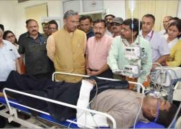 मुख्यमंत्री ने ऋषिकेश एम्स पहुँच कर घायलों की ली जानकारी